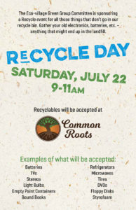 Recycle Day Tomorrow!