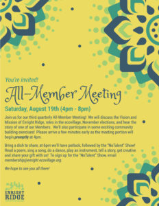 August All-Member Meeting